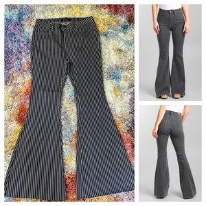 NWOT Judy Blue super flare stripe jeans